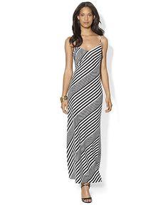 Ralph Lauren Dress Sleeveless Striped Maxi