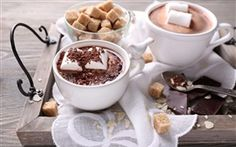Hot chocolate drink, cup, marshmallow