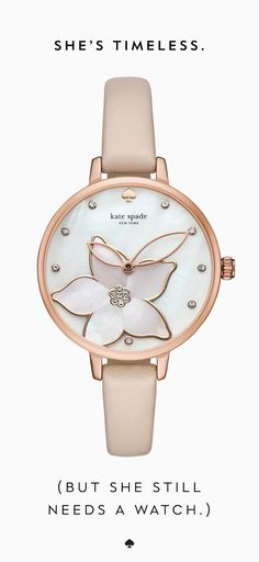 Rose gold and light pink watch