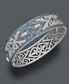 Lovely sapphire and diamond bangle. You know, to wear while bowling.