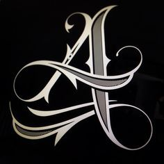 ✍️ Sensual Calligraphy Scripts ✍️ initials, typography styles and calligraphic art - Jared Mirabile Tattoo Lettering Fonts, Lettering Styles, Graffiti Lettering, Lettering Design, Hand Lettering, Logo Design, Type Design, Calligraphy Letters, Typography Letters