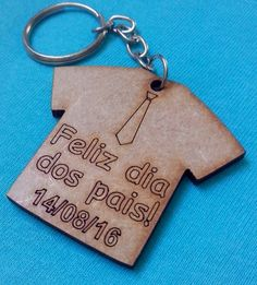 Personalized Items, Key Chain, Wood, Happy Valentines Day Dad, Key Hangers, Gifts, Kids Ministry, Tin Cans, Souvenir