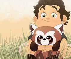 by http://pocketpicasso.tumblr.com/post/47667933314/baby-bolin-and-pabu-i-miss-legend-of-korra-a //The Legend of Korra: baby Bolin!