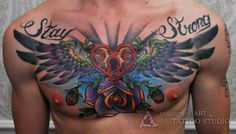 SUBMISSION:  sexteaandhc:    Just got some more ink in my chest,still needs work thou'