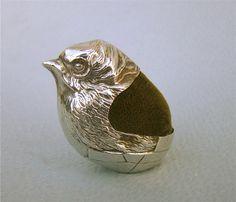 EXQUISITE EDWARDIAN SILVER PIN CUSHION BY SAMPSON MORDAN 1908