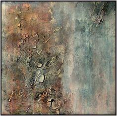 Erosion VII Lyrical abstract textured painting www.abeka-art.com materie schilderij, mixed media