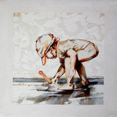 """Terry Kobus - """"The Innocent Years"""" Graphite/Oil on canvas 400 x Big Fish, My Children, Graphite, Oil On Canvas, Have Fun, Paintings, People, Animals, Art"""