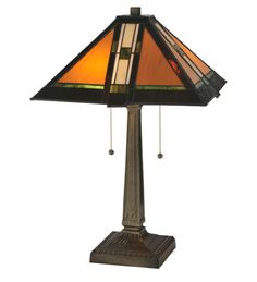 "22""H Montana Mission Tiffany Table Lamp"