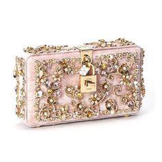 Dolce & Gabbana - Embellished Velvet Clutch