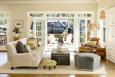 Lake House - traditional - living room - portland - Taryn Emerson Interiors-Sherwin Williams Rice Grain-Benjamin Moore match Carrington Beige