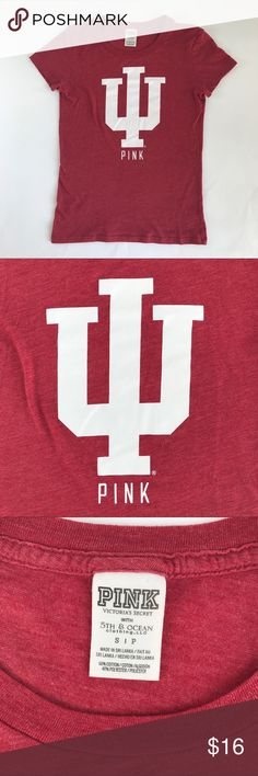 Victoria's Secret pink Indiana university Tshirt Victoria's Secret pink Indiana university Tshirt woman's small PINK Victoria's Secret Tops Tees - Short Sleeve