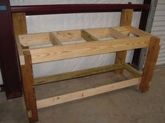 work benches... from scratch -