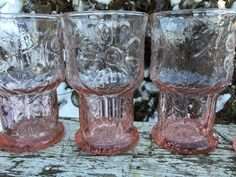 Vintage Libbey Country Garden Pink water by 1350Northvintage