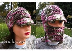 Crochet Fold Over Hat- Pattern. $$