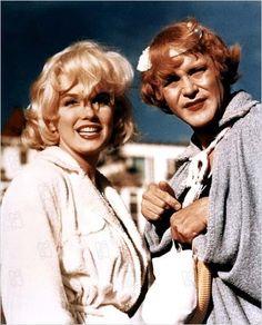 Con faldas y a lo loco : foto Billy Wilder, Jack Lemmon, Marilyn Monroe