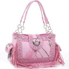 Realtree® Fringed Studded Camo Shoulder Bag – Handbag-Addict.com