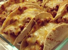 Yum... I'd Pinch That! | Oven Baked Tacos