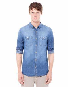 Bershka Philippines - Basic denim shirt