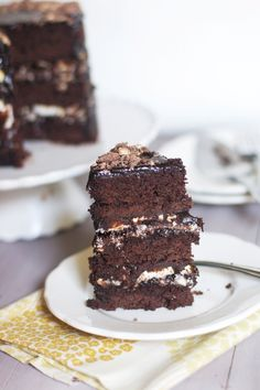 Chocolate Malt Layer Cake from @Audra Fullerton