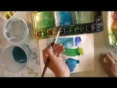 Creating Dynamic Watercolors Using Phthalo Blue - YouTube