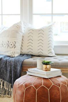 DIY Mudcloth Pillows -Using a Sharpie and $6 Pillow