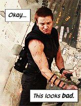 """Okay...This looks bad."" Hawkeye comic intro with Movie images. 