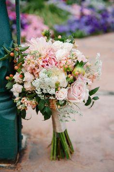Such a brilliant mix | Brooke Schultz Photography #pink #wedding #bouquets
