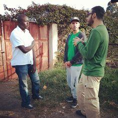 Kibera in Nairobi, Nairobi Speaking with Mohammed about his greenhouse project in #Kibera #Nairobi that teaches agricultural skills to people and prepares local food. @wildpeeta @peymanparham