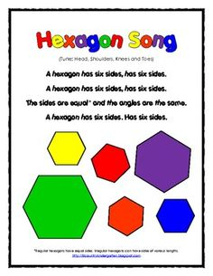 FREE 2D Shapes Hexagon Song and Worksheet