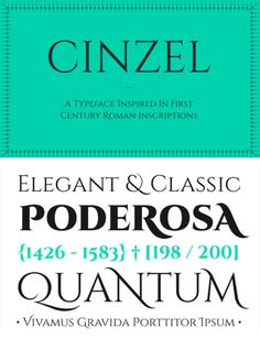 Be inspired by the origins of the Latin Alphabet with free Cinzel font family. A Typeface inspired in Century Roman Inscriptions. Graphic Design Fonts, Typo Design, Typographic Design, Graphic Design Services, Lettering Design, Top Free Fonts, Best Free Fonts, Free Typography Fonts, Typography Letters