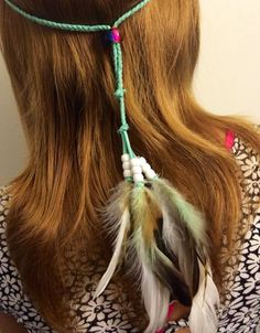 A personal favorite from my Etsy shop https://www.etsy.com/listing/228880104/mint-white-tribal-headband-native