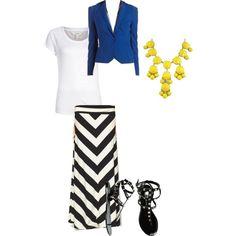 Maxi skirt and blazer