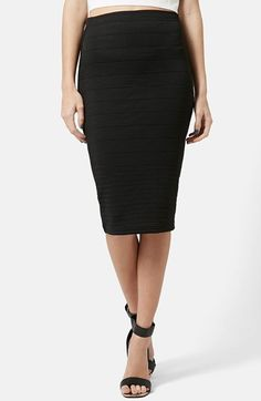 Topshop Graduated Rib Body-Con Skirt available at #Nordstrom