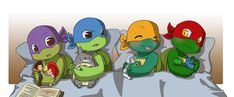 TMNT+TS: Boys and their toys by NamiAngel.deviantart.com on @deviantART