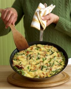 Green Bean, Ham, and Cheese Frittata Recipe