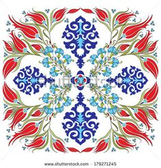 blue series is designed using the old patterns anatolia by antsvgdal, via Shutterstock