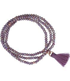 Kralenarmband Kristal City Purple Zilver