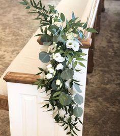 Church Wedding Decorations Aisle, Wedding Church Aisle, Wedding Pews, Church Pews, Church Pew Flowers, Altar Flowers, Aisle Flowers, Wedding Pew Markers, Floral Wedding