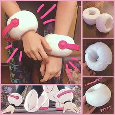uravity's wrist braces are done! i can't get over the fact that mine look like donuts lmao. i'm also so painfully close to finishing this… Uraraka Cosplay, Cosplay Dress, Cosplay Makeup, Cosplay Outfits, Anime Outfits, Best Cosplay, My Hero Academia Costume, Instruções Origami, Wrist Brace