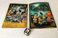Replacement Lego Heroica: Fortaan - Manual / Instructions Dice Pieces / Parts #LEGO