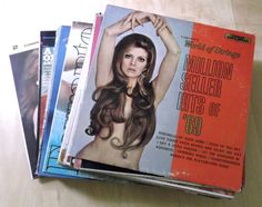 32 LP Record Collection Seductive Erotic Sexy Girl Covers 60s 70s #Kitsch #Vintage #sexyalbumcovers