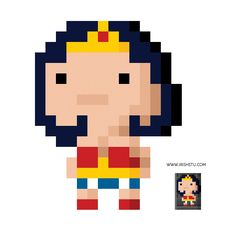 Wonderwoman pixel art