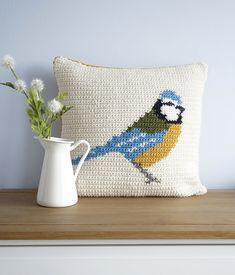 Ravelry: Blue Tit Cushion pattern by Little Doolally
