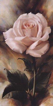 Floral Art - pink rose painting by Igor Levashov Arte Floral, Love Rose, Pretty Flowers, Red Flowers, China Painting, Beautiful Paintings, Beautiful Roses, Flower Art, Amazing Art
