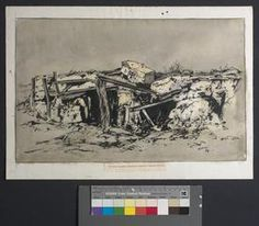 A Wrecked German Concrete Gun-pit Beyond Arras Ww1 Art, Wwi, First World, Painting & Drawing, Concrete, Battle, German, Drawings, Image