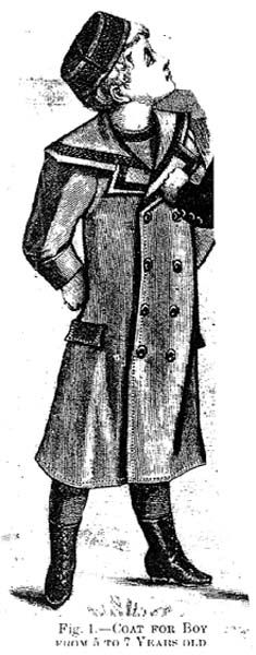 Coat for a boy from 5-7 years old, Harper's Bazaar- 1895