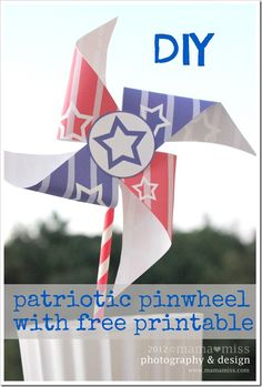 Patriotic Pinwheel & Free Printable from Mama Miss