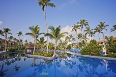 How great does this swimming pool look? Dive in at Ocean Blue & Sand resort in Punta Cana.