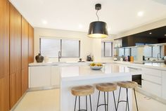 Projects   Miton wooden tractor stools.  Modern kitchen