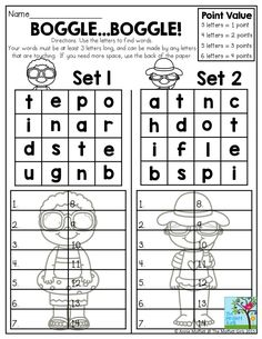 Use the letters to find words. Your words must be at least 2nd Grade Spelling, 2nd Grade Ela, Spelling Games, Spelling Activities, First Grade Reading, Spelling Words, Teaching Activities, Teaching Reading, Summer School Activities
